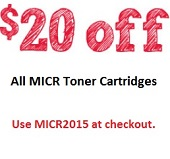 $20 Off MICR Cartridge